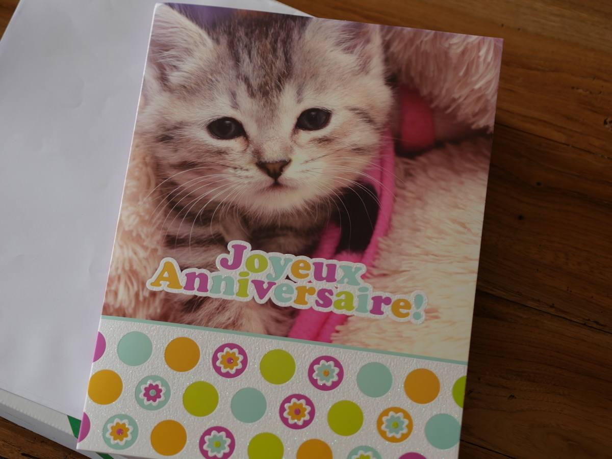 anniversaire carte