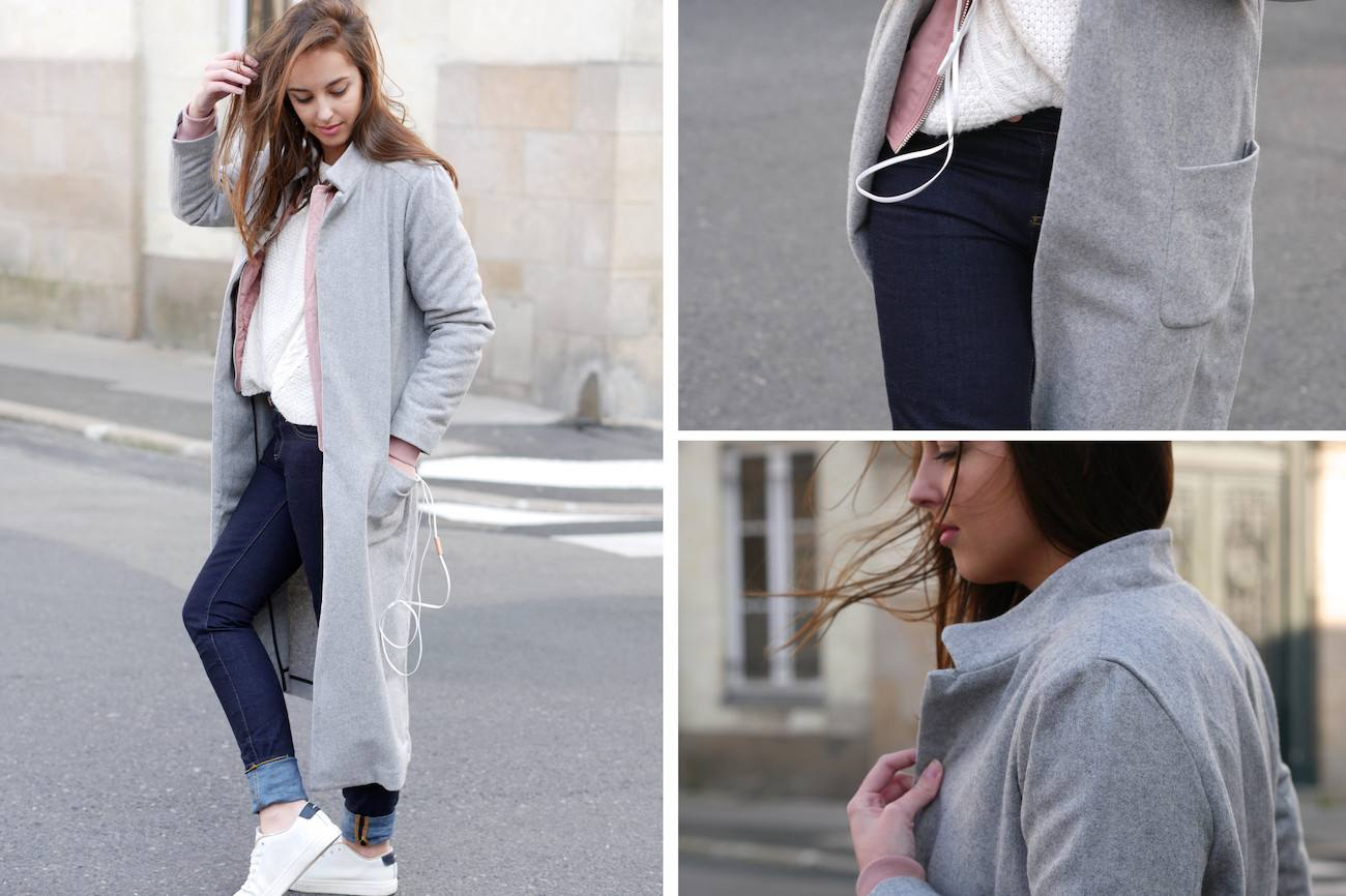 Bombers rose poudré layering - blog mode 2