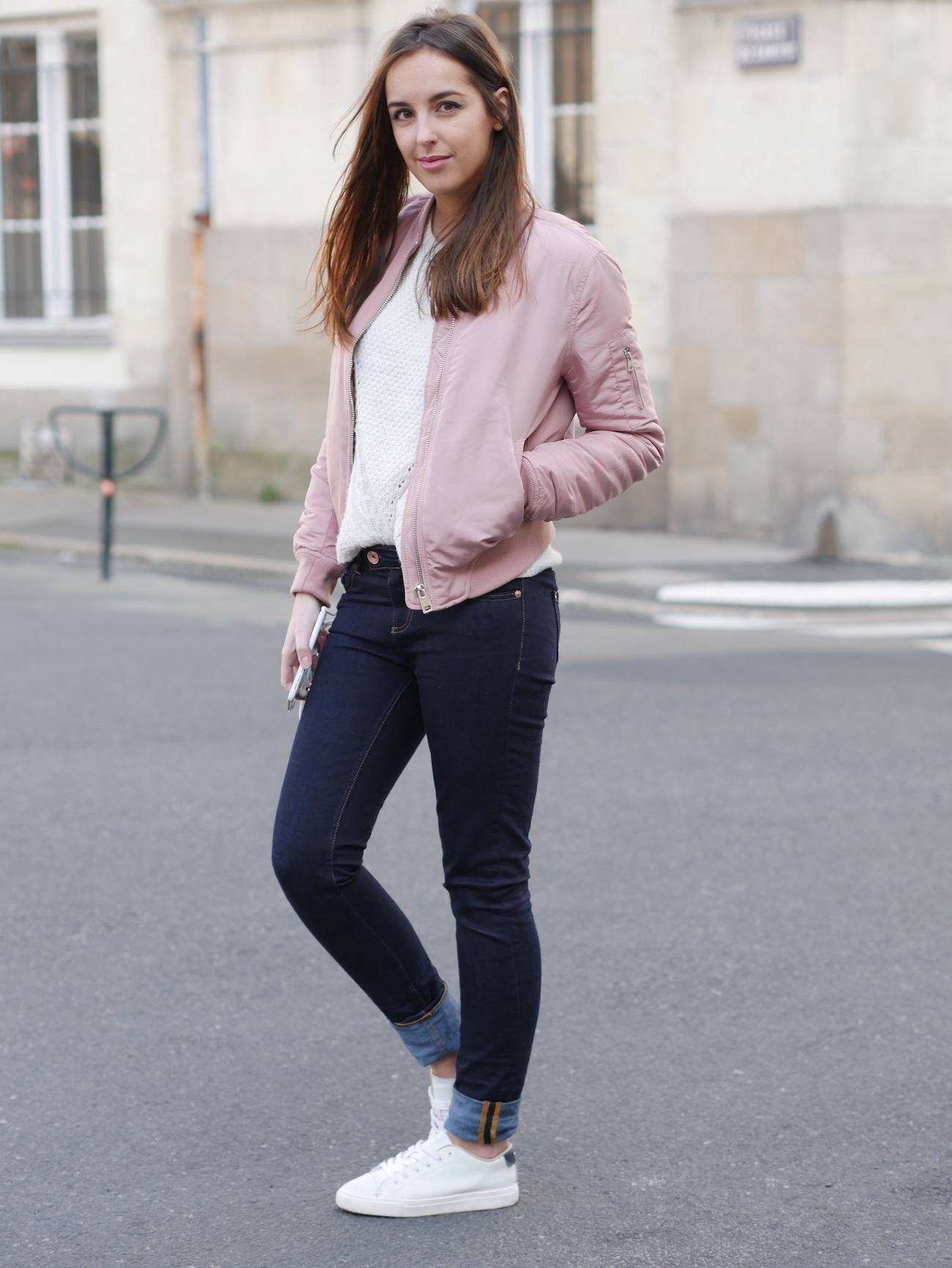 Bombers rose poudré layering - blog mode 4
