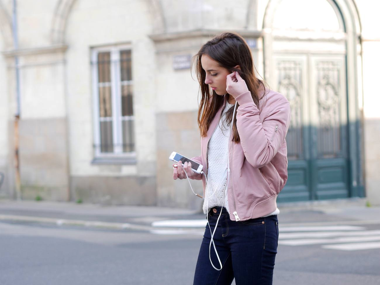 Bombers rose poudré layering - blog mode 5