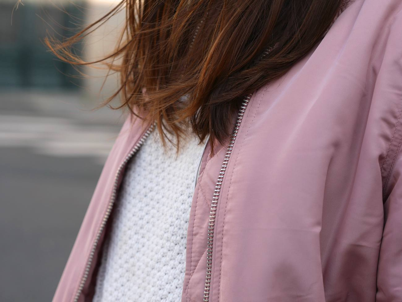 Bombers rose poudré layering - blog mode 8