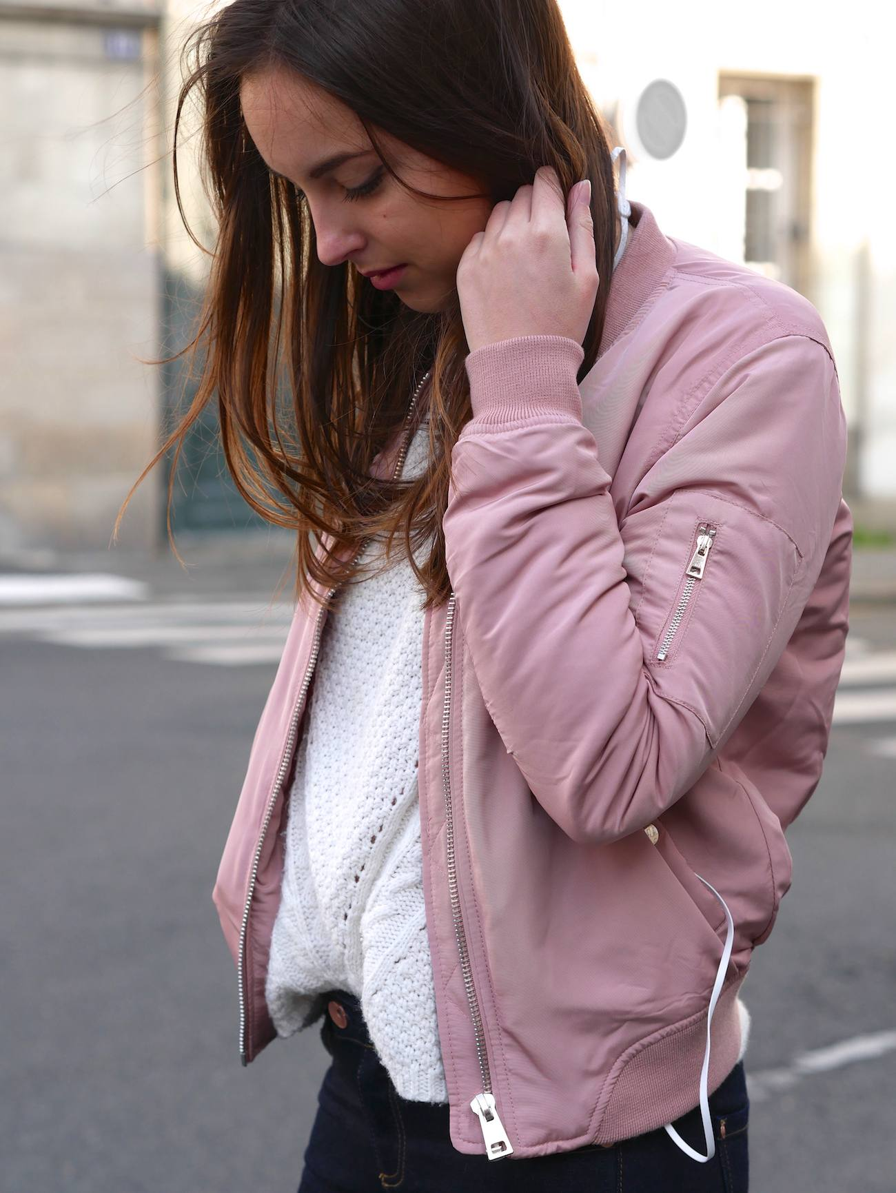 Bombers rose poudré layering - blog mode 9