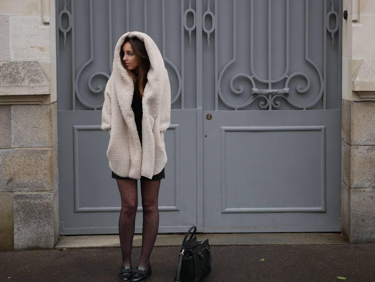 blog mode - manteau fausse fourrure mouton Shein 1