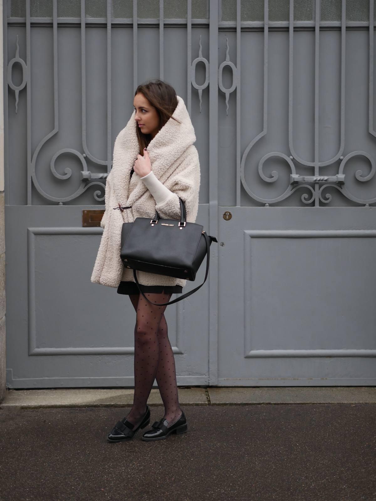 blog mode - manteau fausse fourrure mouton Shein 10