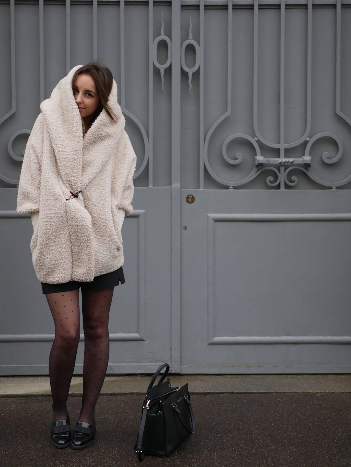 blog mode - manteau fausse fourrure mouton Shein 2