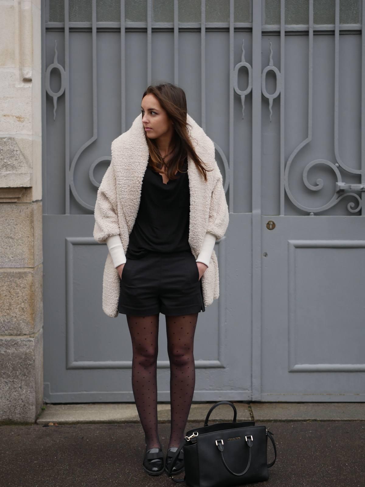 blog mode - manteau fausse fourrure mouton Shein 4
