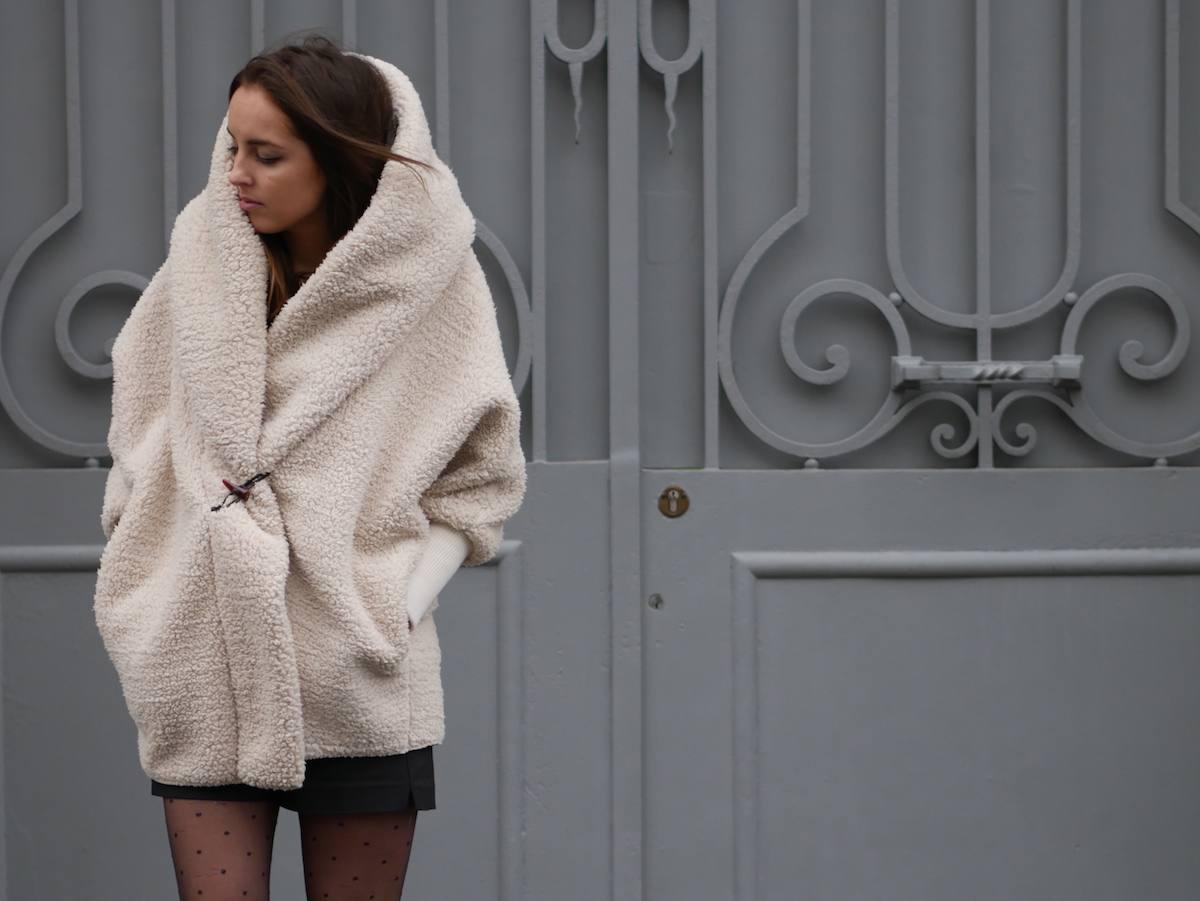 blog mode - manteau fausse fourrure mouton Shein 5