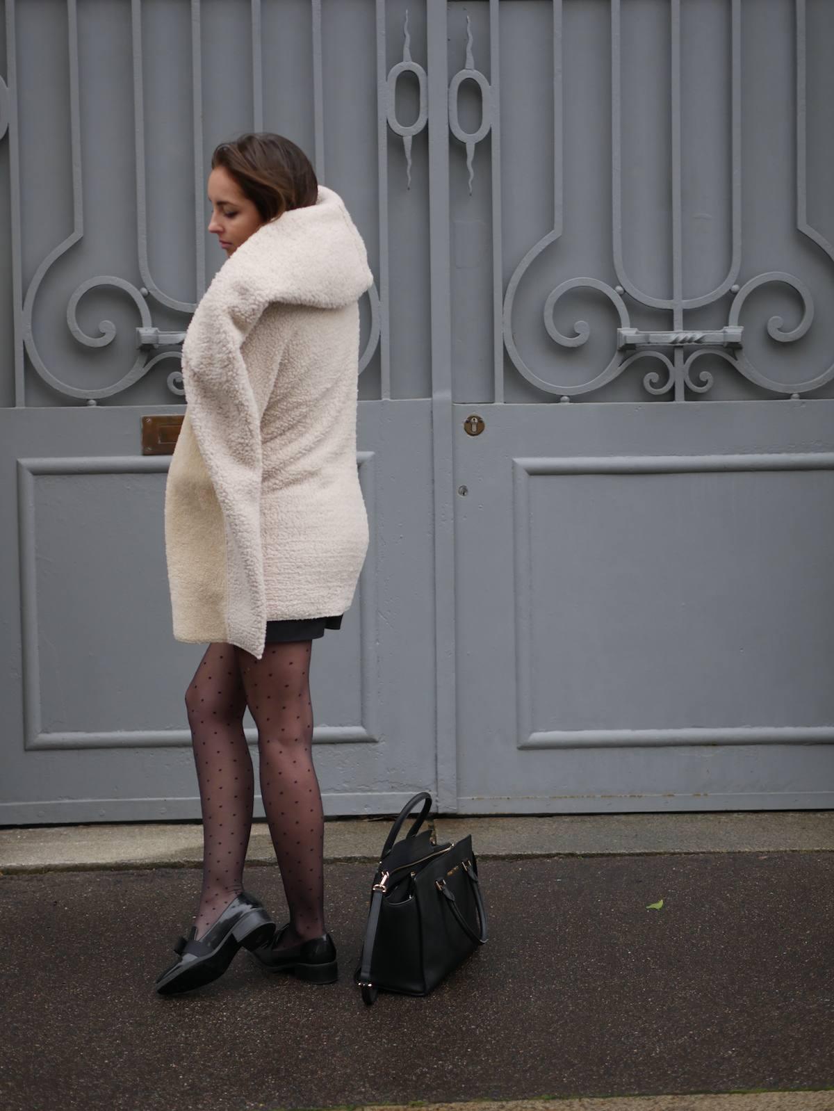 blog mode - manteau fausse fourrure mouton Shein 7