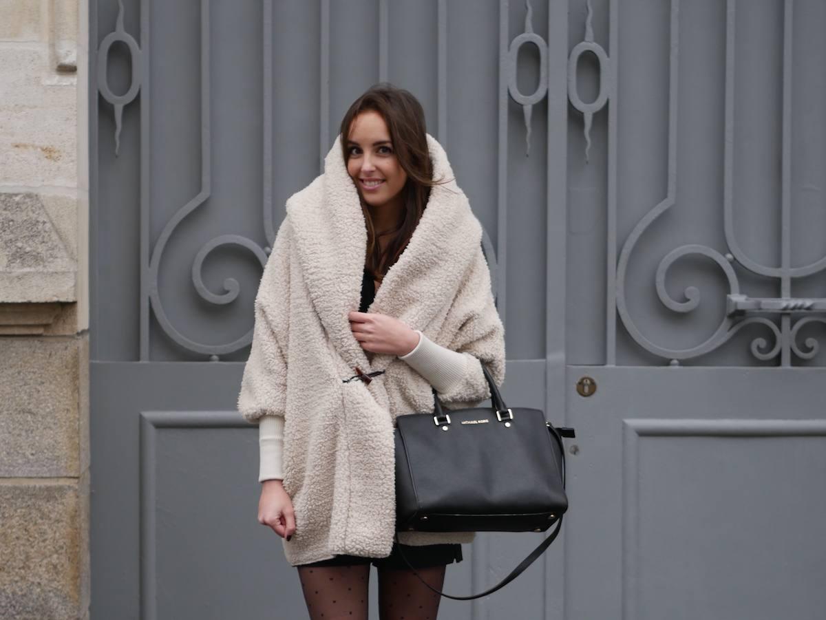 blog mode - manteau fausse fourrure mouton Shein 8
