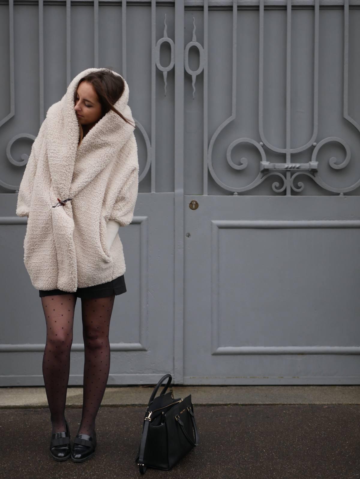 blog mode - manteau fausse fourrure mouton Shein 9
