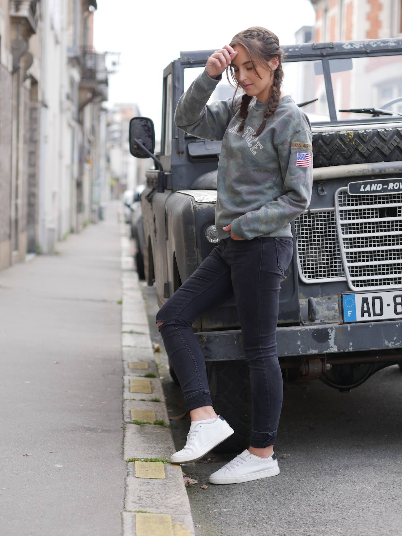 blogueuse de mode - pull camouflage army 5