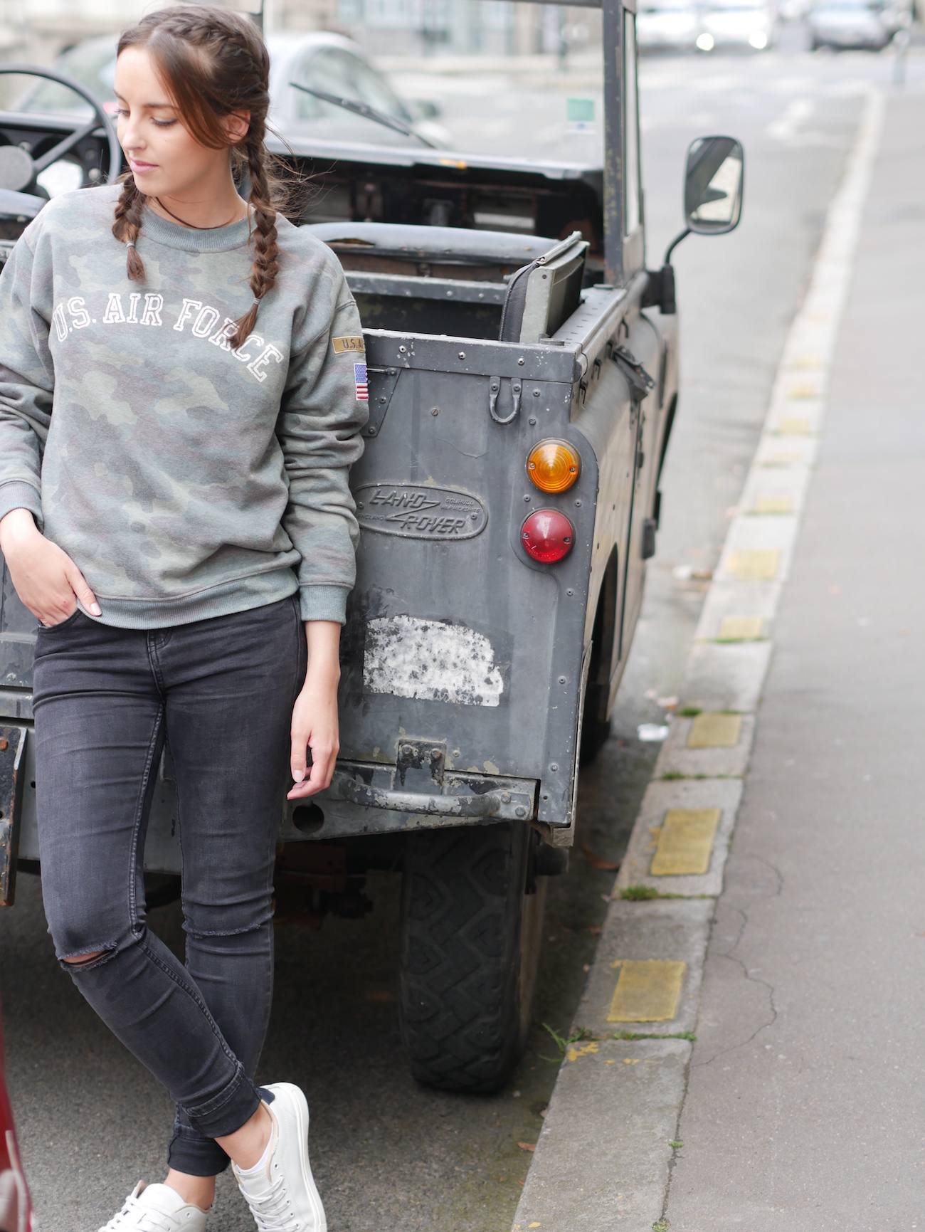 blogueuse de mode - pull camouflage army 8