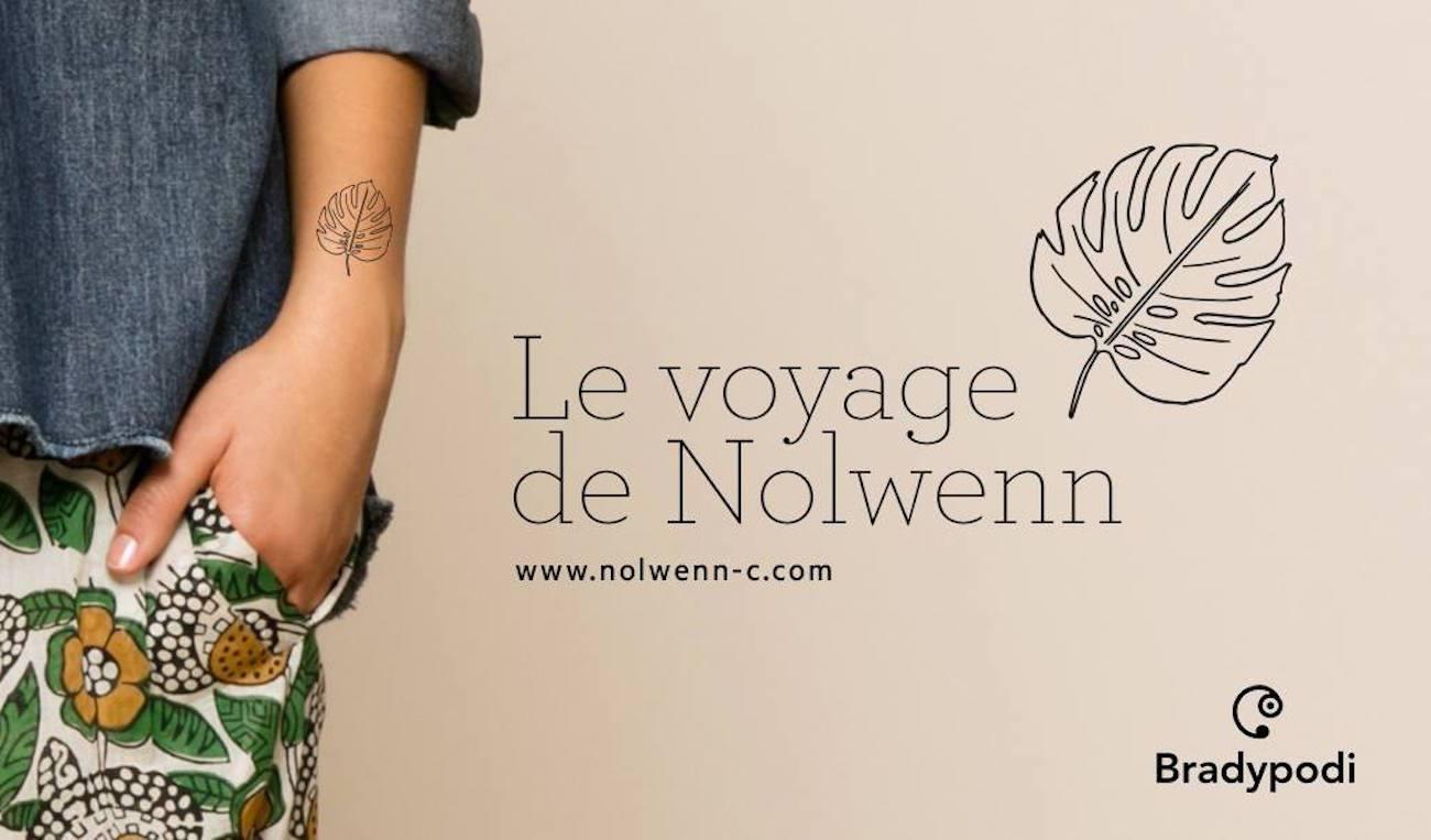 6 - Bradypodi x Nolwenn C - Tattoo éphémère tropical , voyage , feuille monstera